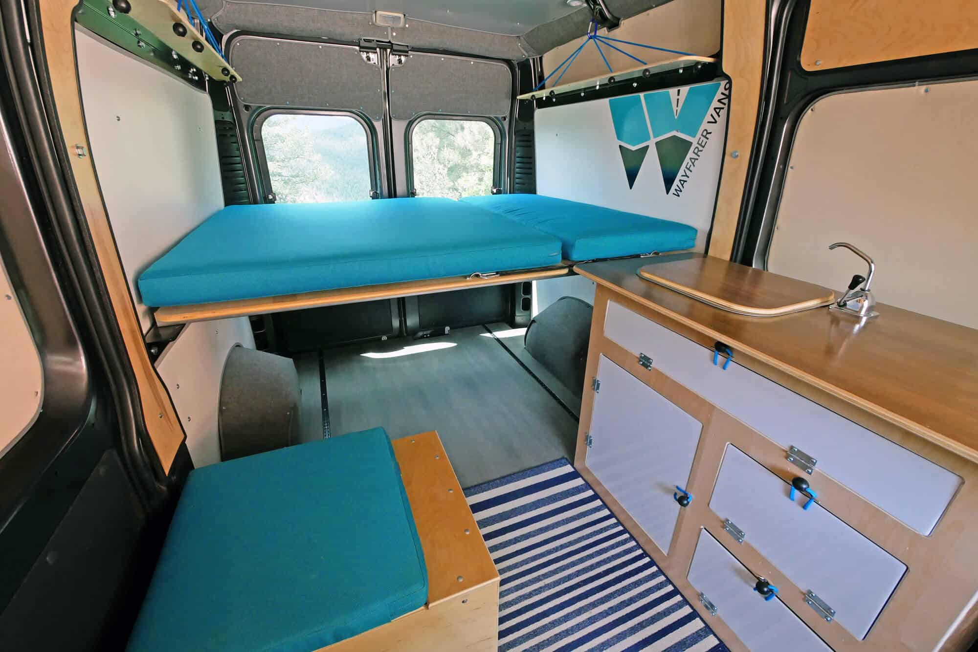 hight resolution of ram promaster camper van conversion kit simple teal