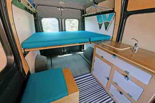 small resolution of ram promaster camper van conversion kit simple teal
