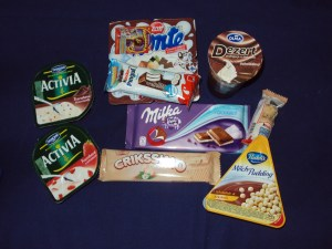 A lot of the snacks I purchased at the Billa. I ate a lot of yogurt and pudding.