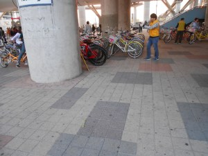 bike rental by the station exit