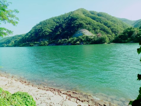 Not the sea, but from Nami island which a friend came and we visted