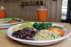 Costa Rica Beans, Rice, Juice