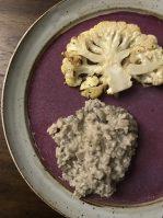 Vegan Mushroom Risotto and Cauliflower Steak