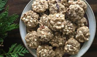 Restoring with White Chocolate Pecan Cookies
