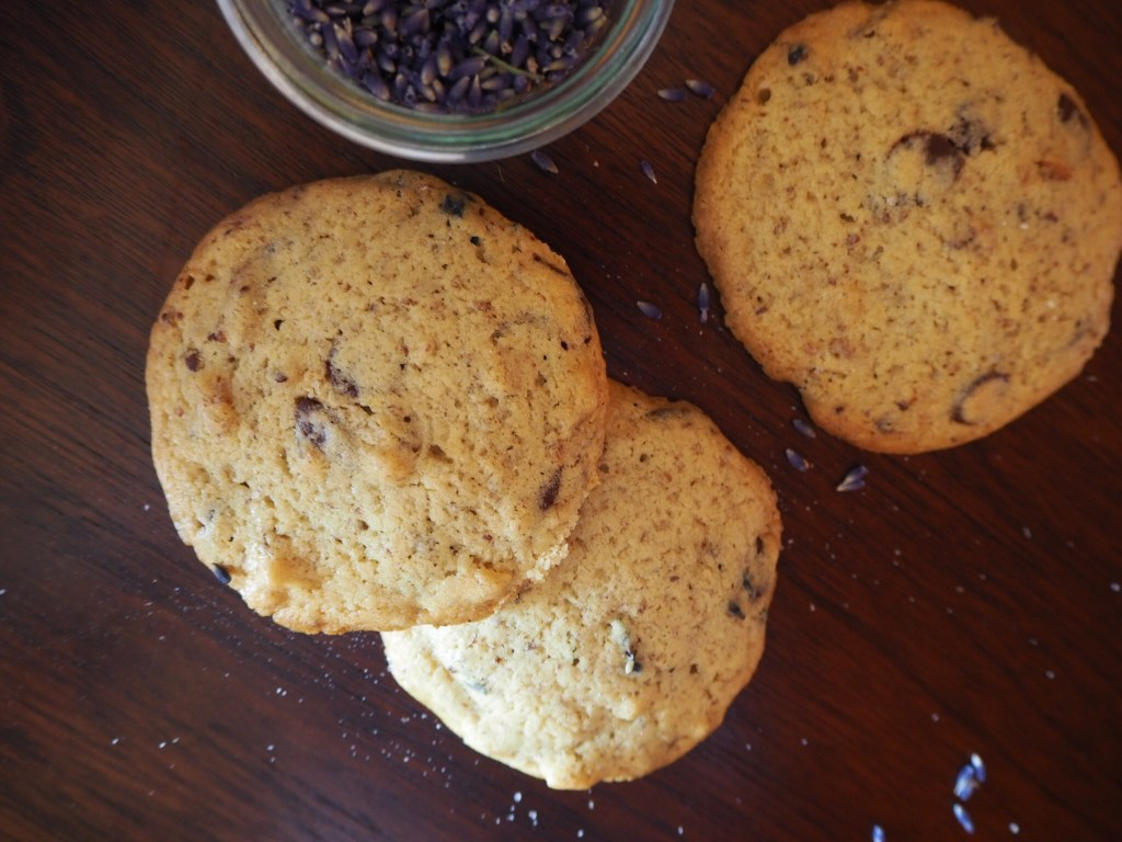 Surrendering into 2019 with Lavender Chocolate Chip Cookies