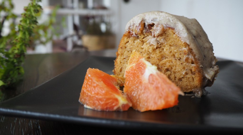 Orange Cake with Chai Cashew Cream Icing + Loving Yourself and Those Around You