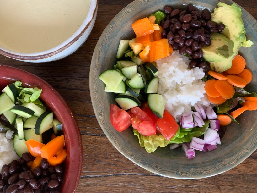 Black Bean Salads with Rice