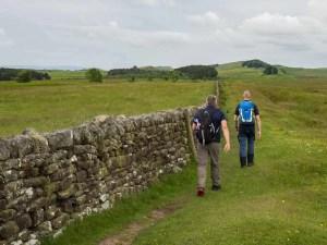 Guys Hiking Hadrian's Wall