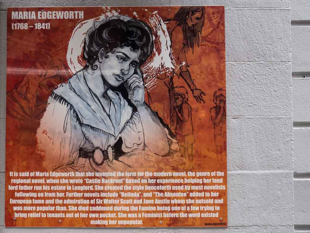 Ireland Dublin Icon Walk Maria Edgworth