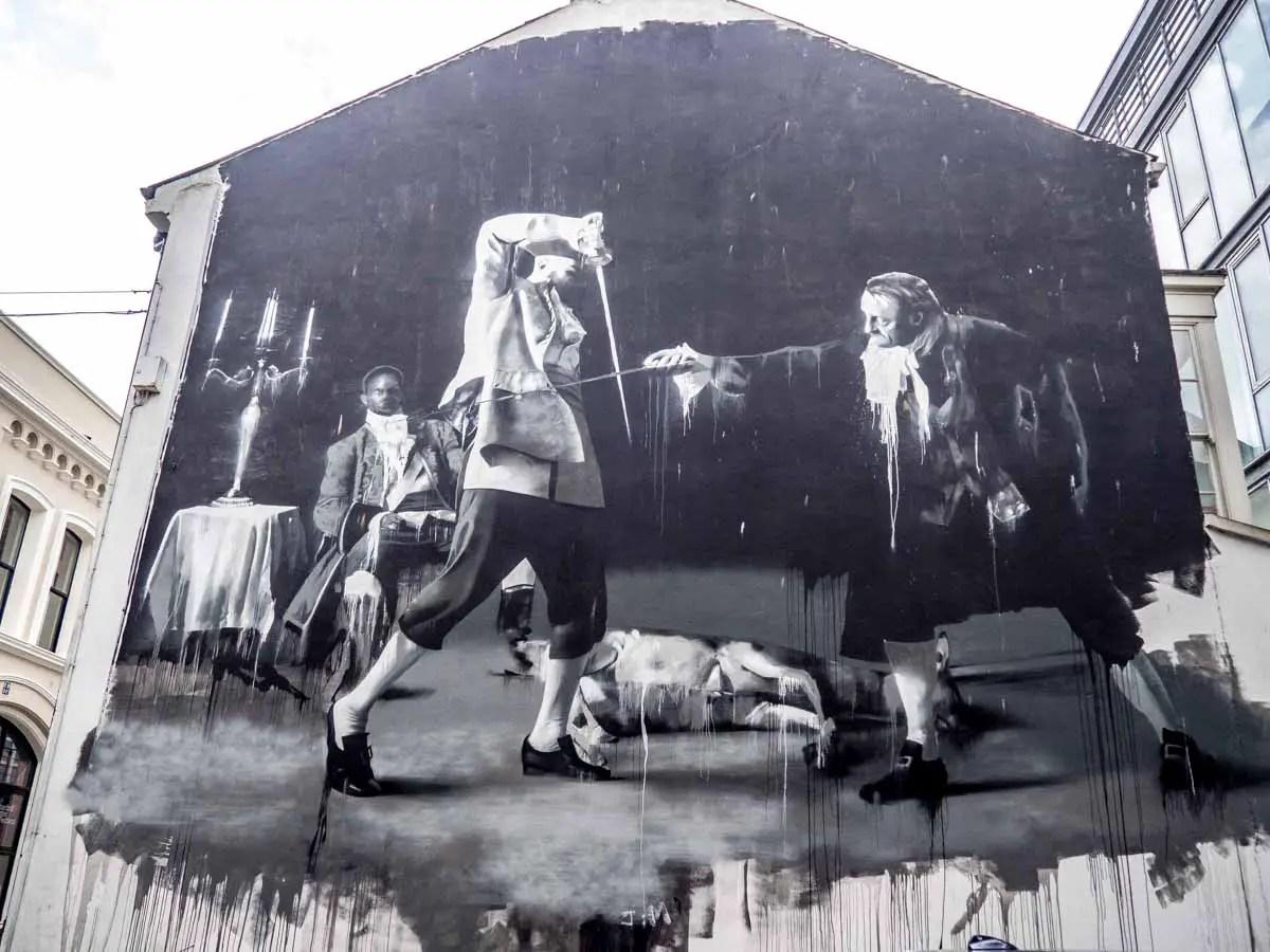 Belfast Street Art Swordfight