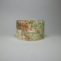 cuff bracelet with map design