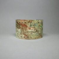 cuff bracelet with map design