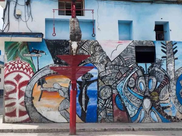 Whimsical Art In Havana Callejon De Hamel Street And