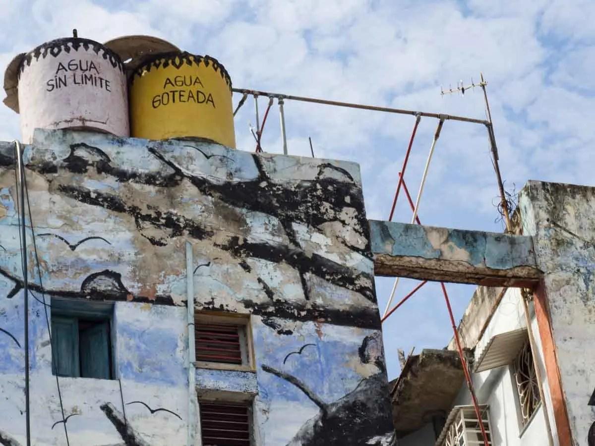 Havana's Callejon de Hamel water towers