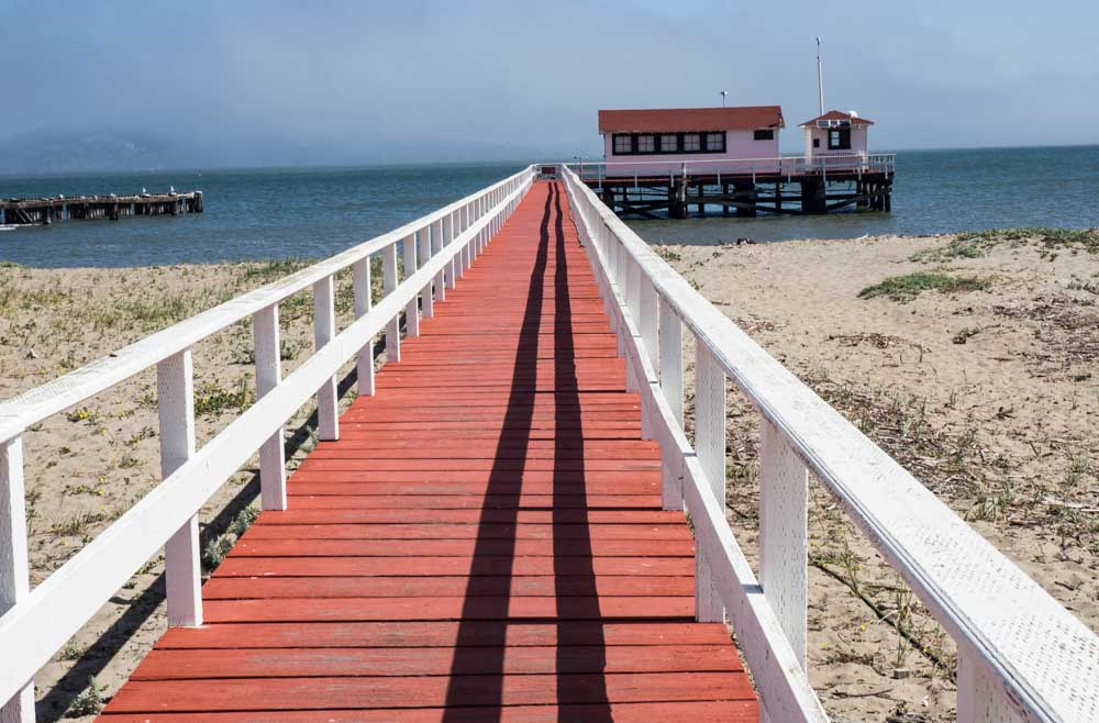 San Francisco Crissy Field Red Dock