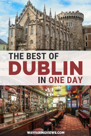 See the best of Dublin in a day. Get two different itineraries that include the must see sights in Dublin. These things to do includes pubs, trinity college, castles and where to eat.