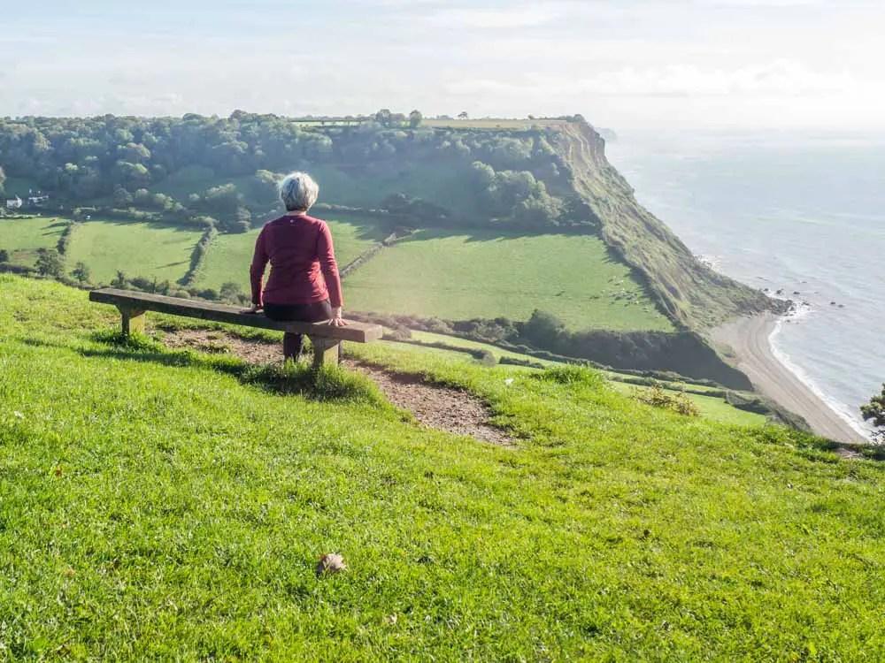 England Sidmouth Jurassic Coast Hike bench