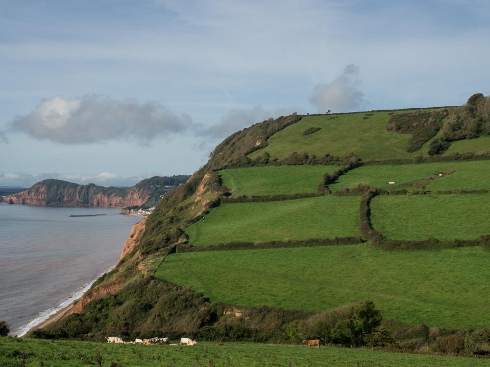 England Sifmouth Jurassic Coast Hike cliff top