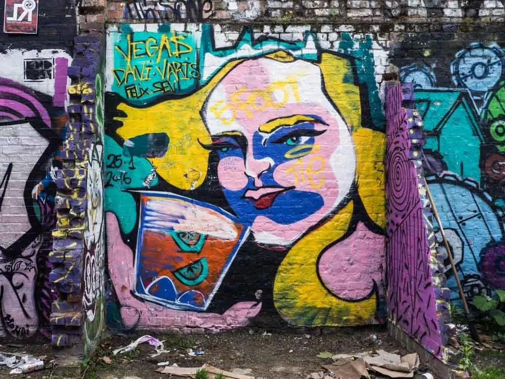 Brick Lane Street art cocktail