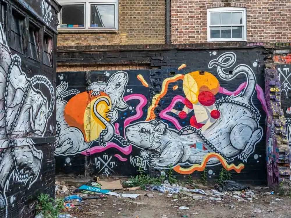 Brick Lane street art Rats