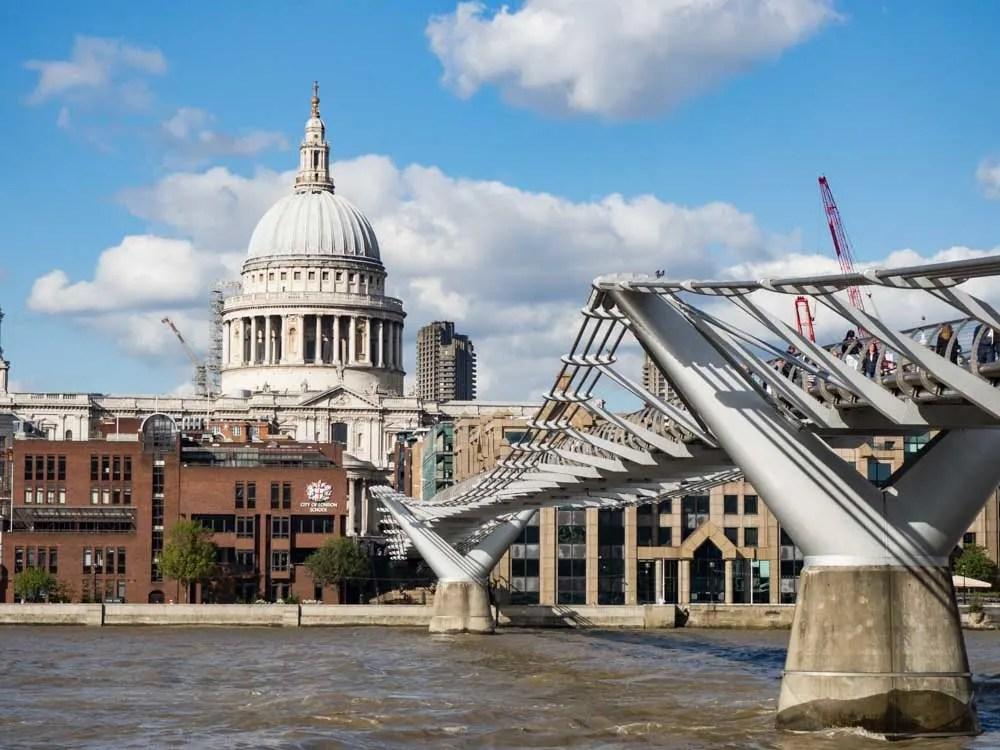 London South Bank Millenniu Bridge St Pauls