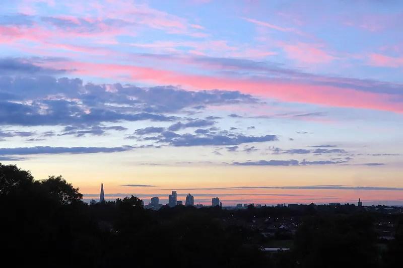 London Blythe Hill at Sunset