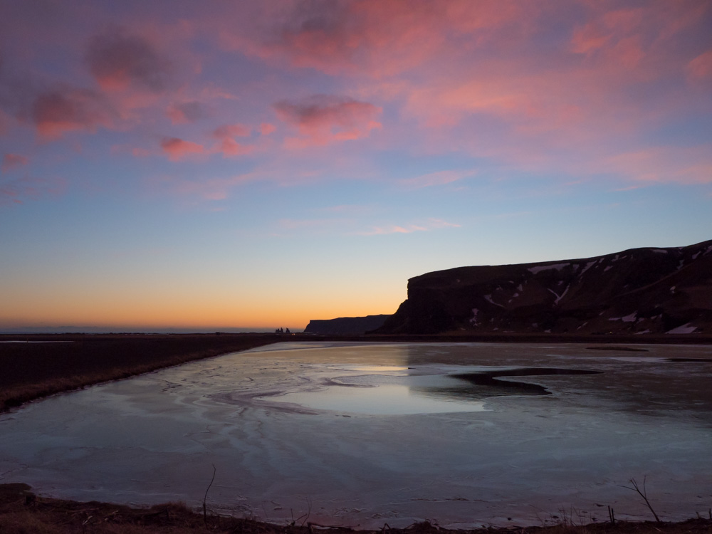 Iceland in Winter Vik sunset