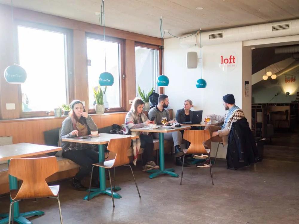 Loft Hostel Reykjavik Cafe Lobby