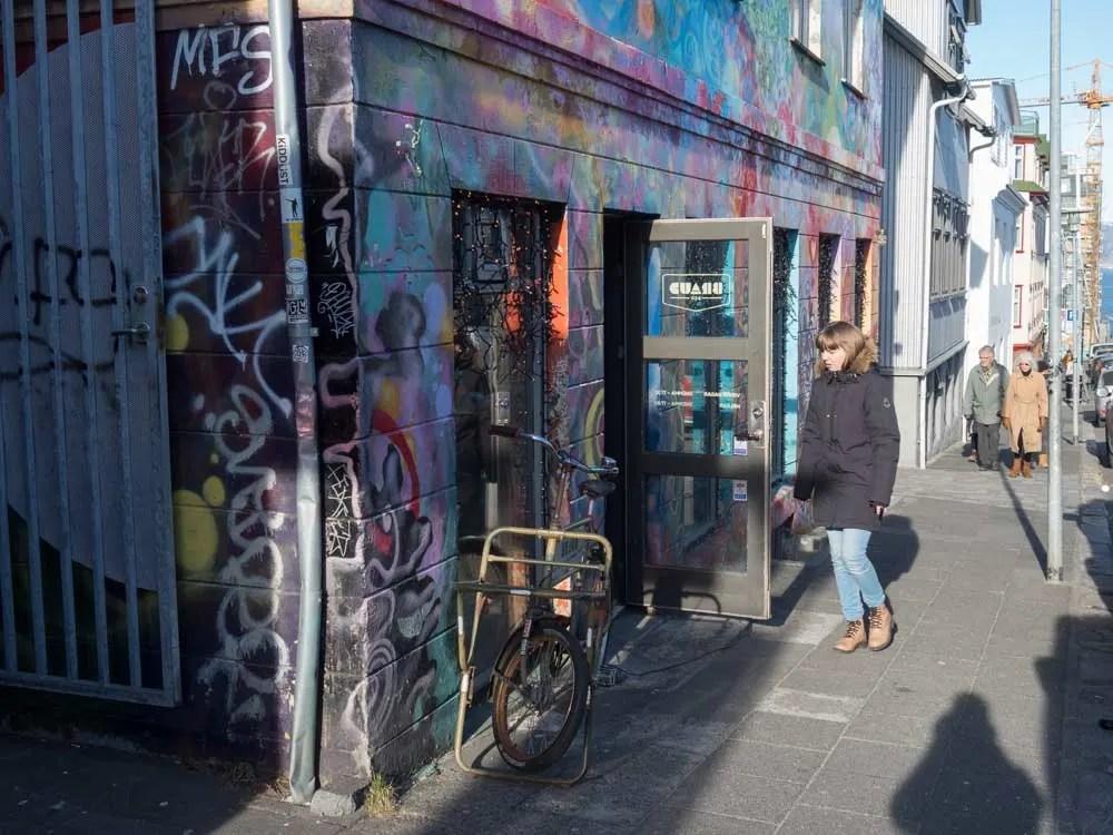 Reykjavik street scene Braud & CO exterior