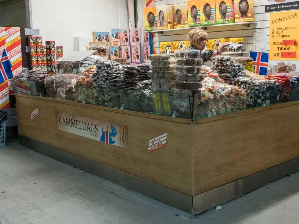Iceland Reykjavik Gammeldags Licorice Shop in the Flea Market