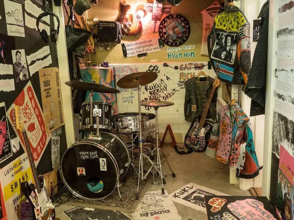 Reykjavik Punk Rock Museum Drum Ki