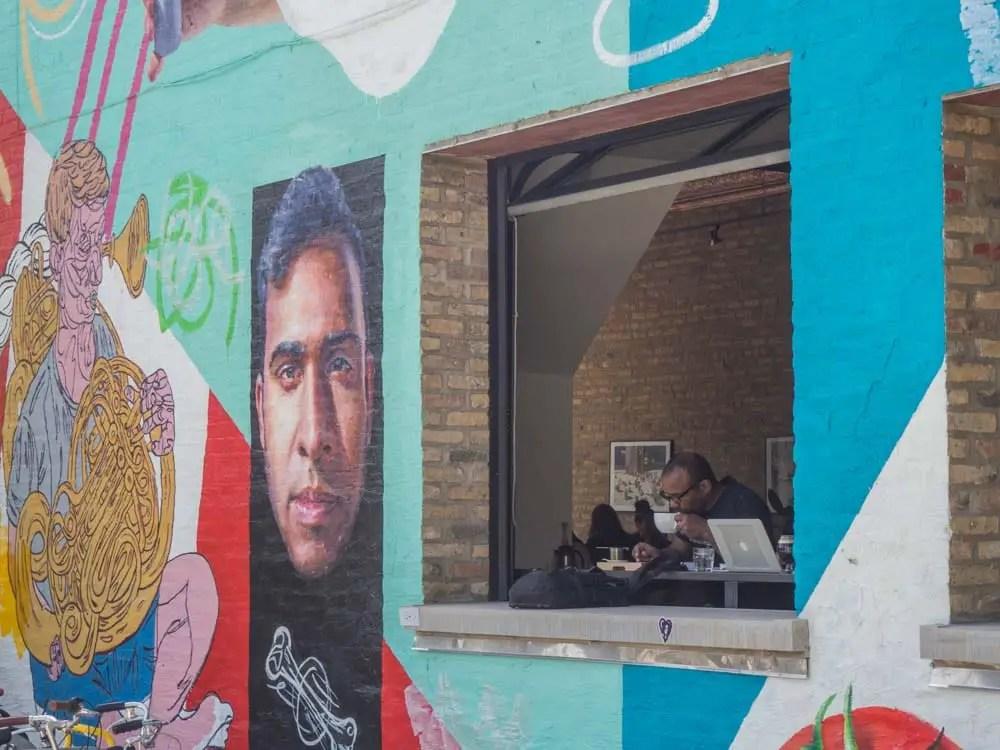 Chicago Wicker Park Coffee Shop Remote Worker