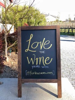 Guerneville Furthermore wine. Love the wine you are with sign