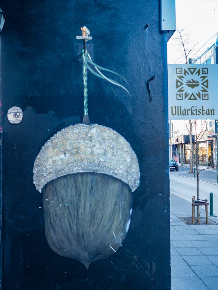 Reykjavik mural acorn