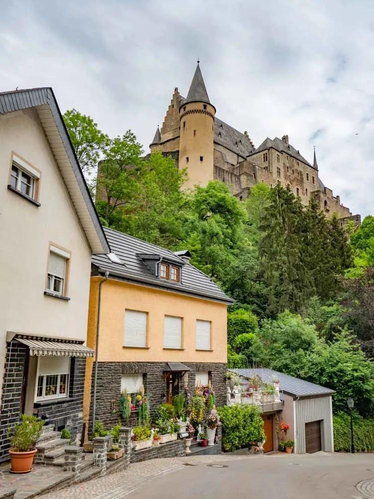 Luxembourg Vianden view of castle