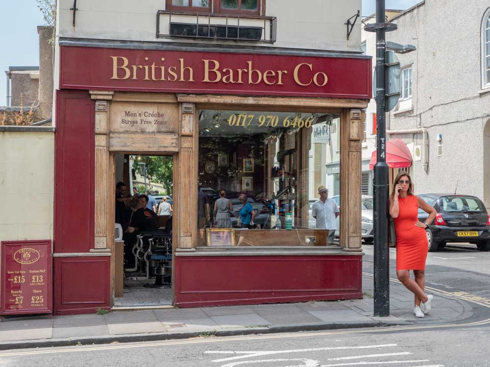 What to see in Bristol- Clifton Village British Barber shop
