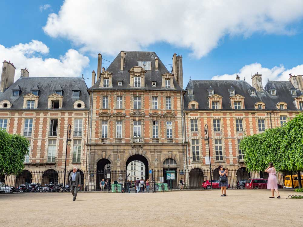 Place des Vosges in Paris France