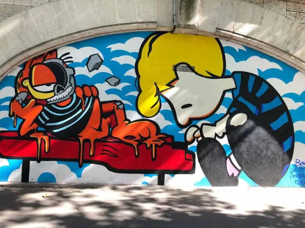 Paris street art: Peanuts mural in the 11th arrondissement