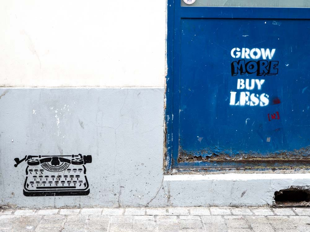 Paris street art stencil by Wrdsmth