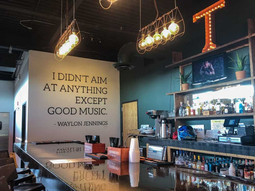 Nashville music Listening Room bar
