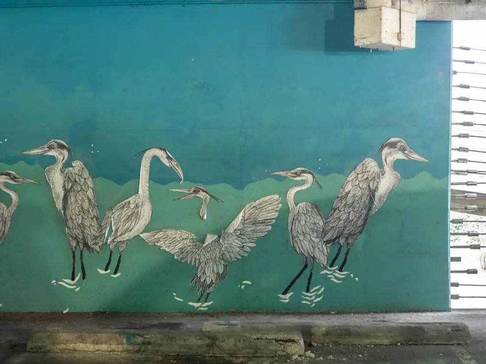 Emily Miller stork stencils Elliston garage