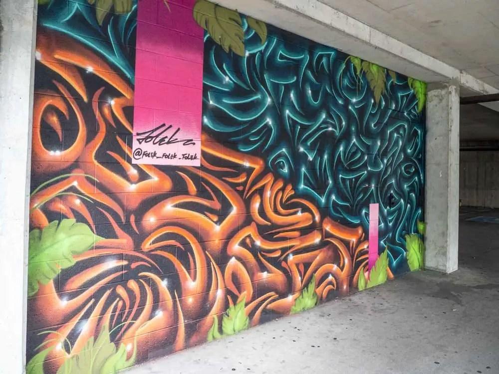 Folek mural Elliston garage