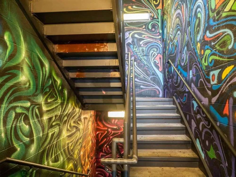 Folek & Chase stairwell street art Elliston garage