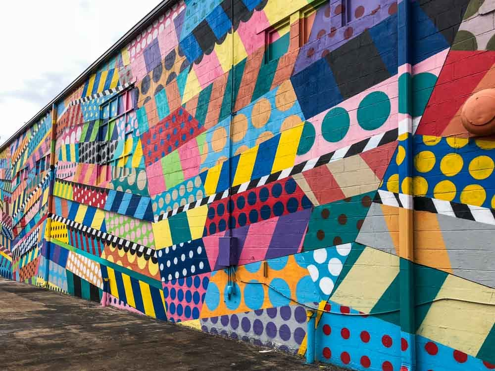 Multi colored Jason Woodside Mural- Nashville Tennessee