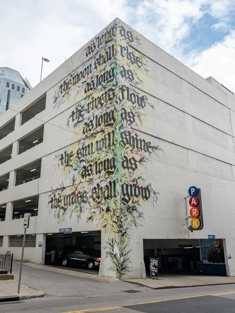 Niels Meulman calligraphy mural - Nashville