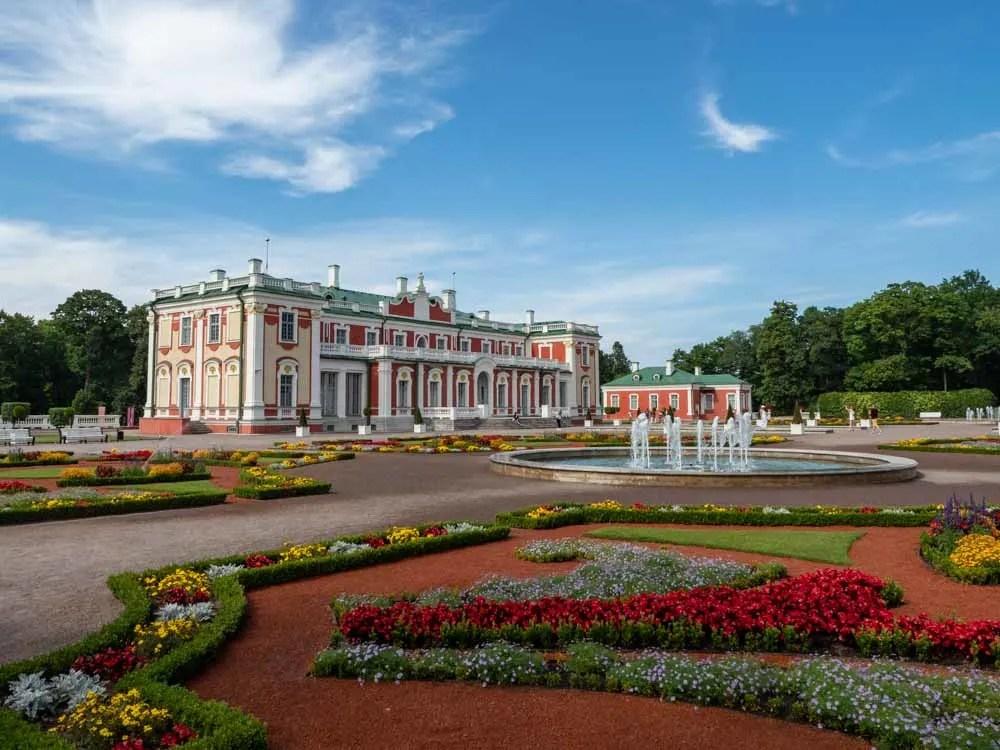 Kadriorg Palace in Tallinn Estonia, flowers in summer