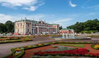 Kadriorg Palace in Tallinn Estonia, flowers in summer