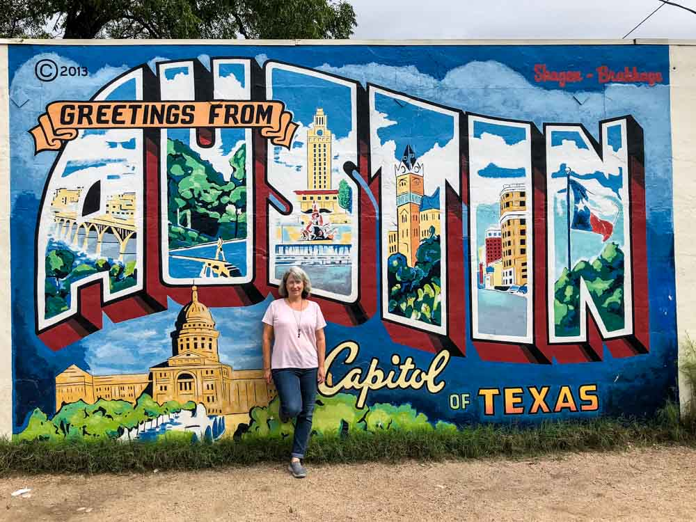 Greeting from Austin Texas Mural