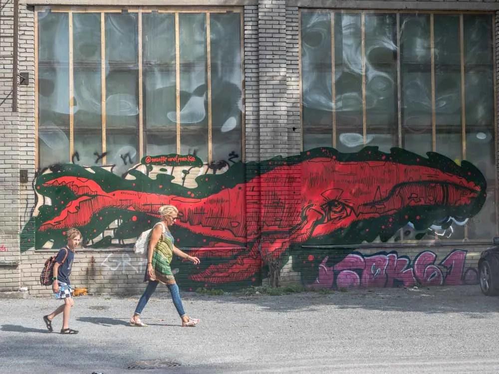 Tallinn Estonia mural red whale