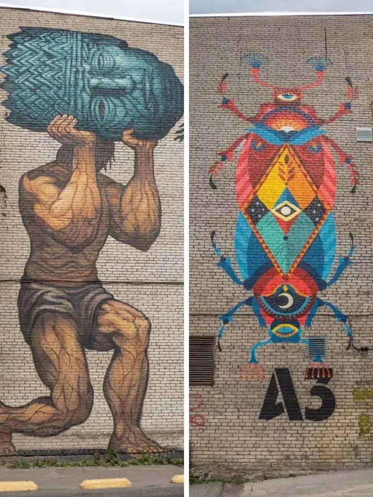 Street art in Estonia Tallinn Mextonia Murals Beetle mural by Boa Mistura